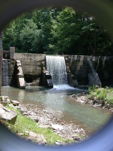 The spillway at Old Cook's Mill