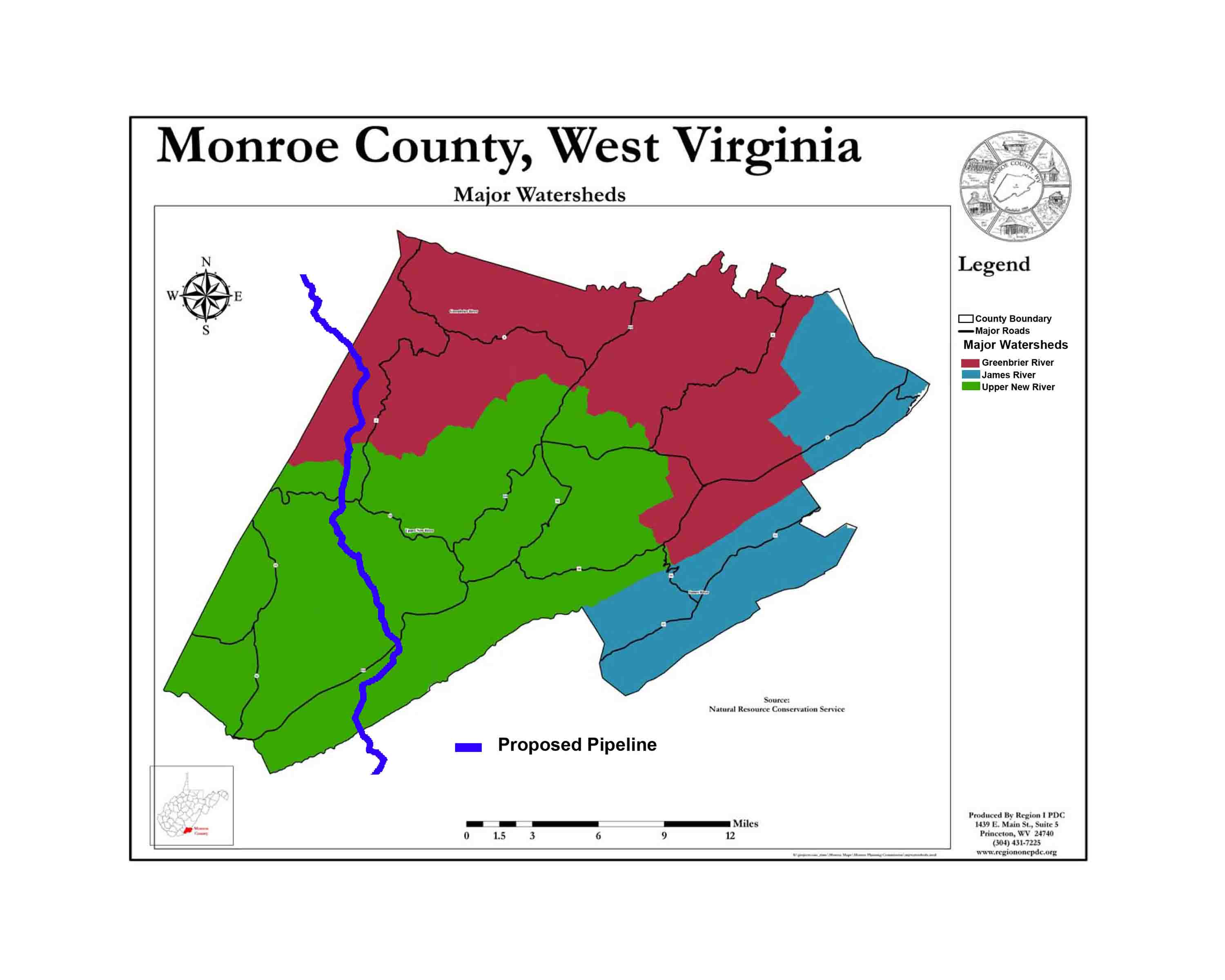 Preserve Monroe Maps of Proposed Pipelines Through Monroe County